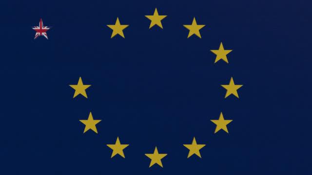 brexit tema eu-flaggan - brexit bildbanksvideor och videomaterial från bakom kulisserna