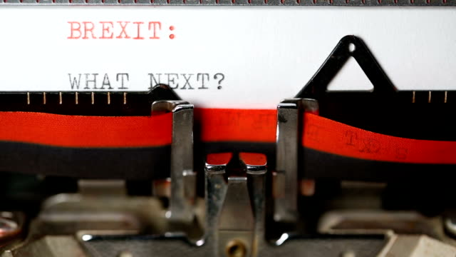 Brexit : What Next - Typing with an old typewriter