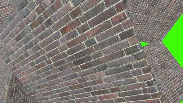 Brick wall, rock and box transition masks animation. Grungy rough wall.