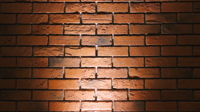 Brick Wall With Spot Light Background Shot On Smart Phone