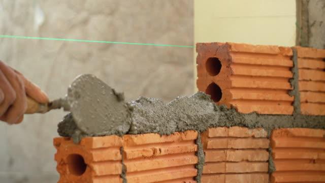 bricklayer construction brick wall video