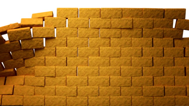 Bricks Bricks are built and crumble. brick stock videos & royalty-free footage
