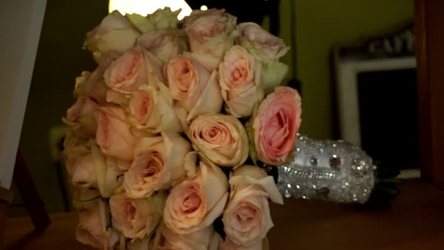 Bridal bouquet of roses video