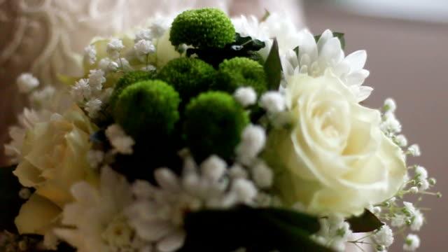 bridal bouquet - trillium video stock e b–roll