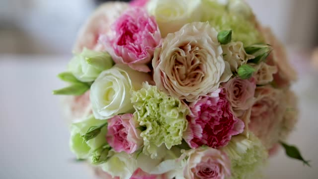 bridal flower - bouquet video stock e b–roll