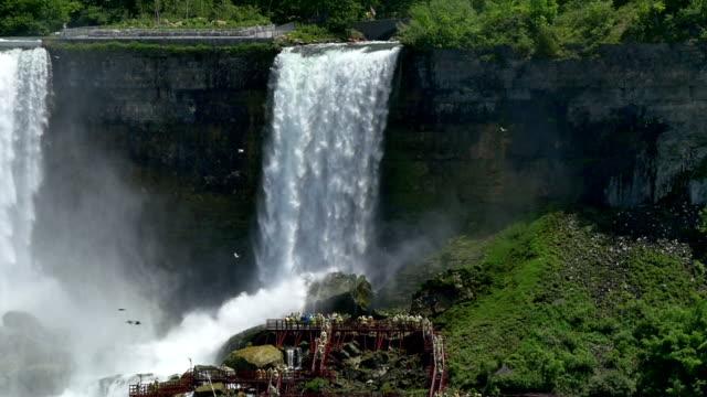 vídeos de stock, filmes e b-roll de bridal veil falls - rio niagara