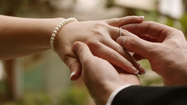 Bride And Groom Exchange Rings (HD) video