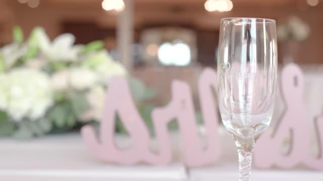 Bride Champagne Flute at Wedding Reception