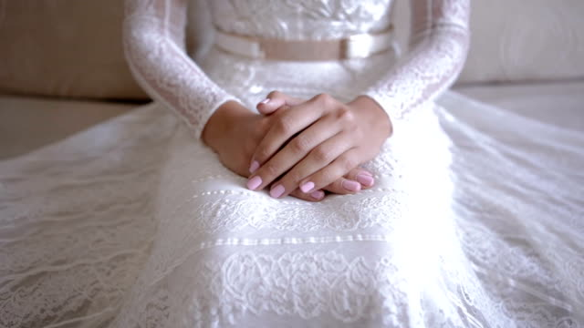 bride waiting for the groom - wedding fashion stock videos and b-roll footage
