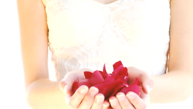 Bride with Rose Petals video