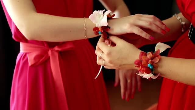 bridesmaid dress up - djurarm bildbanksvideor och videomaterial från bakom kulisserna
