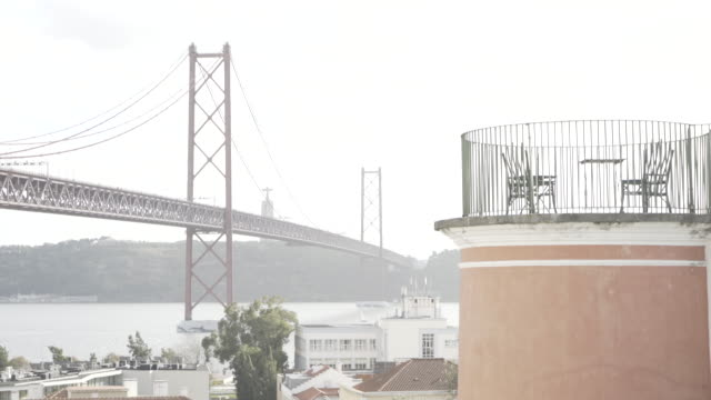 bridge 25 april Lisbon tagus bridge 25 april Lisbon tagus ponte 25 de abril stock videos & royalty-free footage