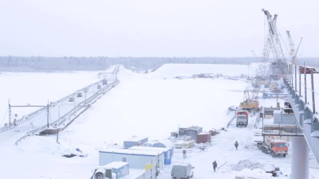 Bridge Construction Site above Arctic Circle