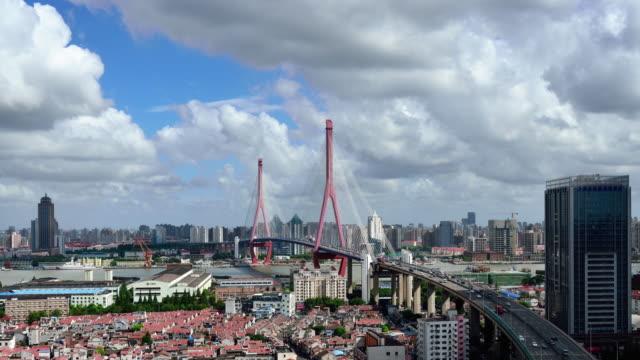 4K: Bridge Elevated Traffic, Shanghai video