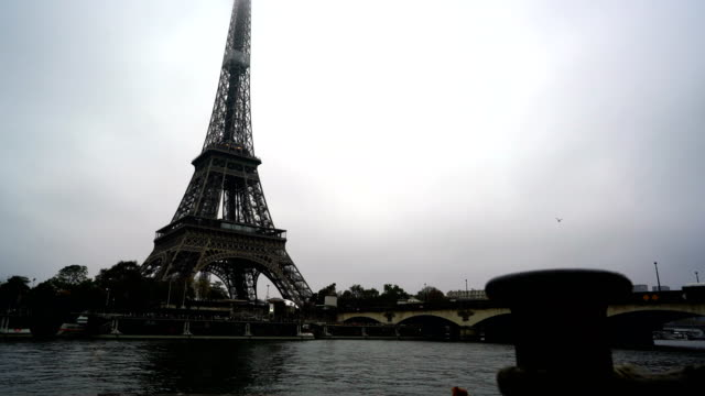 Bridge In Front Of Eiffel Tower in Paris, France