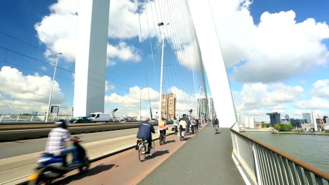 ponte di rotterdam - rotterdam video stock e b–roll