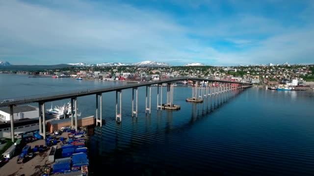 Bridge of city Tromso, Norway video