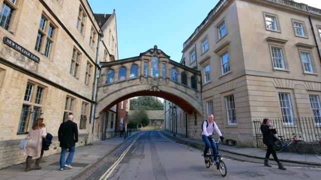 Bridge of sighs, university of Oxford, UK video