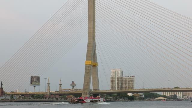 Bridge over Chao Phraya River, Bangkok video