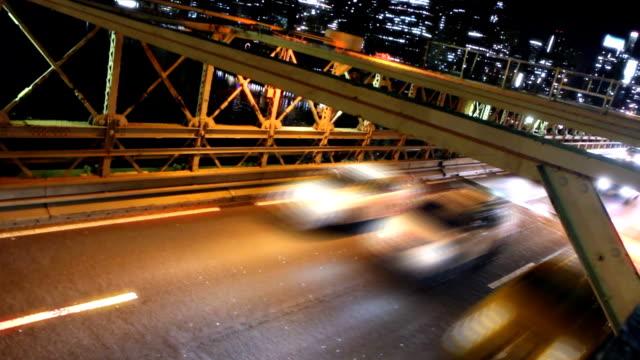 Bridge Traffic Time Lapse at Angle video