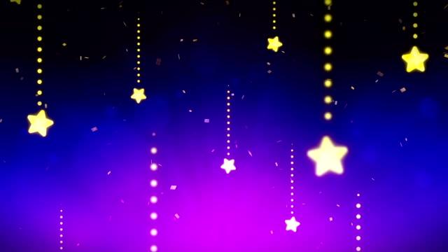 明るく輝く星、cg、ループ アニメーション、青、 - 星型点の映像素材/bロール