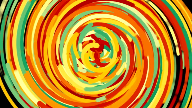 Bright colorful circle lines, cartoon style backdrop, computer generated modern abstract background, 3d render