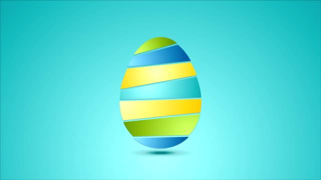 vídeos de stock, filmes e b-roll de brilhante abstrato animação de vídeo de páscoa com ovos - clipe