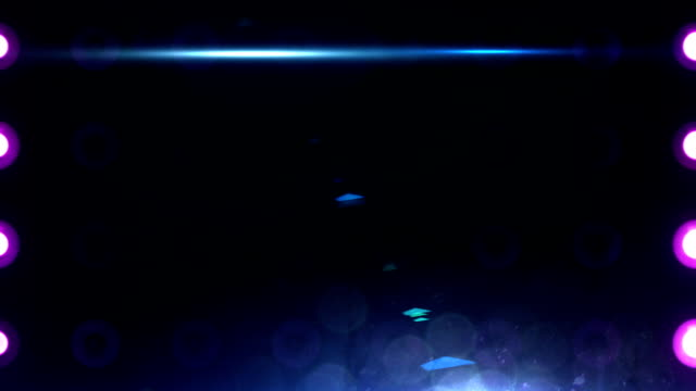 Bright Flood Lights Background Loop (CLOSE UP) Multi-colored video