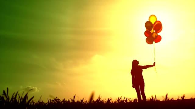 Bright Future Woman Silhouette Hope Concept video