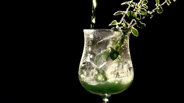 Bright Green Mint Drink video