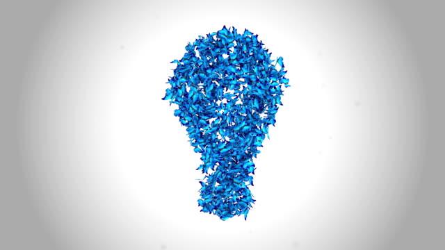 Bright Idea Lamp made by Blue Butterflies - Alpha video