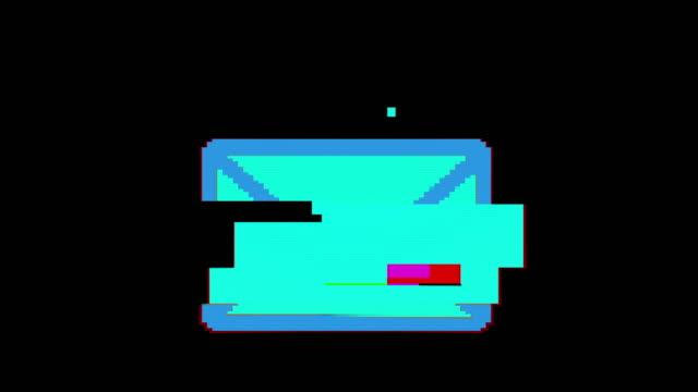 set di pixel luminosi di diverse figure, icone. vecchio video retrò vintage - ear talking video stock e b–roll