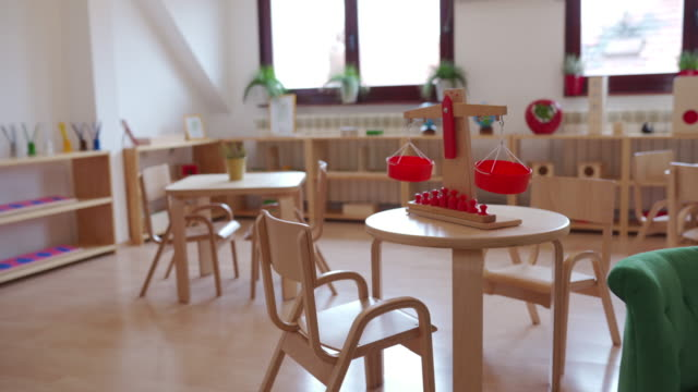 Bright preschool classroom