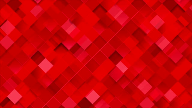 Bright red geometric squares mosaic video animation video