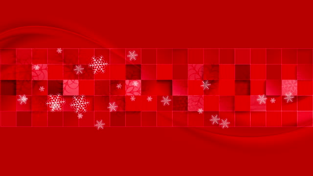 Bright red geometric wavy Christmas video clip video