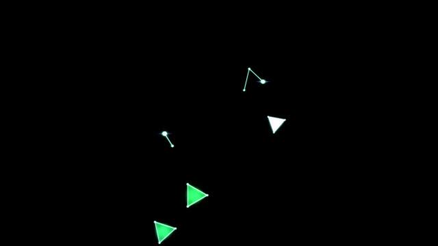 Bright Triangle Animation video