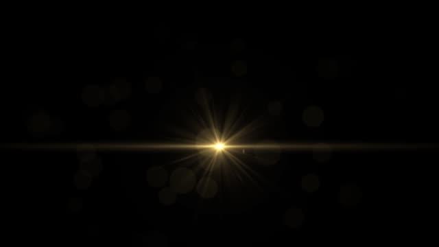 ljus blinkande guldstjärna på en svart bakgrund hd 1920x1080 - ljusreflex bildeffekt bildbanksvideor och videomaterial från bakom kulisserna