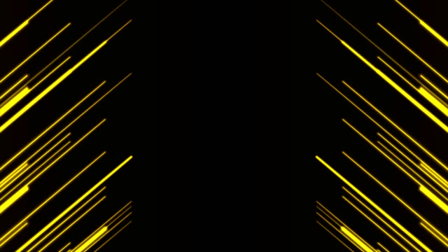 bright yellow neon lines abstract tech motion background - luce gialla video stock e b–roll