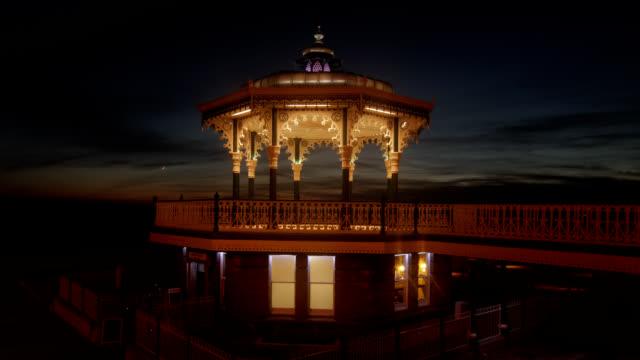 Brighton Beach Victorian Bandstand Sunset Timelapse video