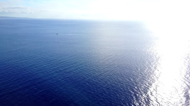 brilliant afternoon sun reflecting off ocean on maui's coast - ocean spokojny filmów i materiałów b-roll