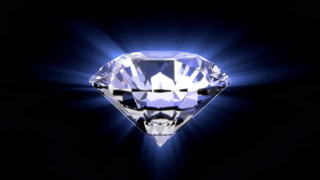 brilliant diamond - scatola del tesoro video stock e b–roll