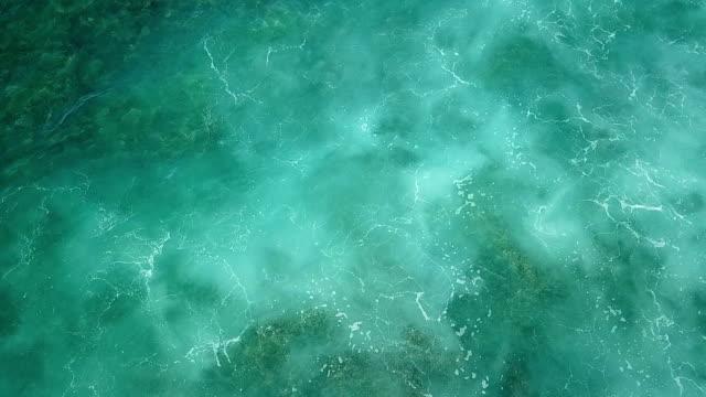 Brilliant Hues of Emerald-Green in Water Off Island Coast video