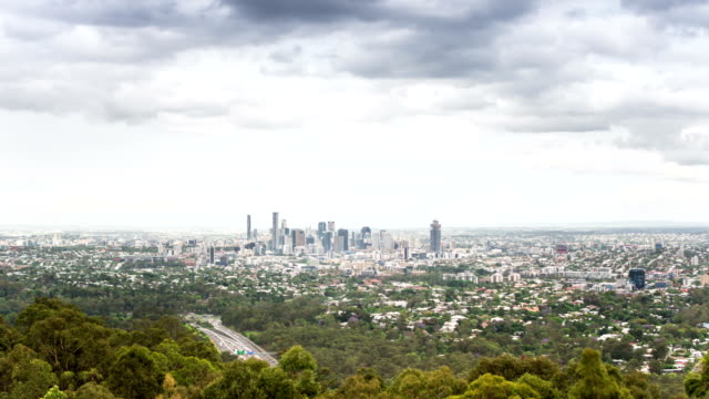 TIME LAPSE: Brisbane aerial view from Mount Coot-tha video