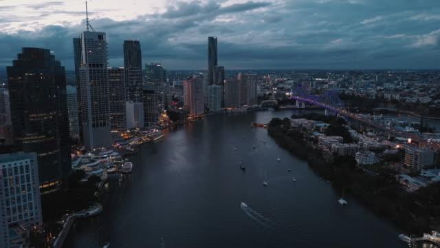 Brisbane City At Sunset 4K video