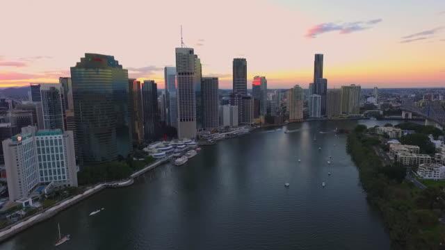 Brisbane City Drone at Dusk video