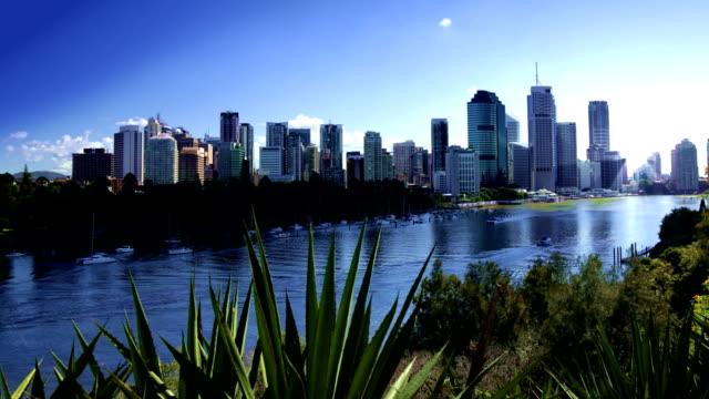 Brisbane City River Day Timelapse video