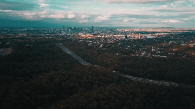 Brisbane City Skyline 4K video