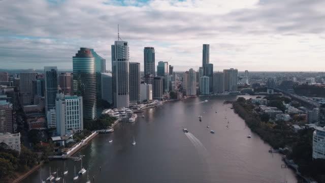 Brisbane City Skyline And River video