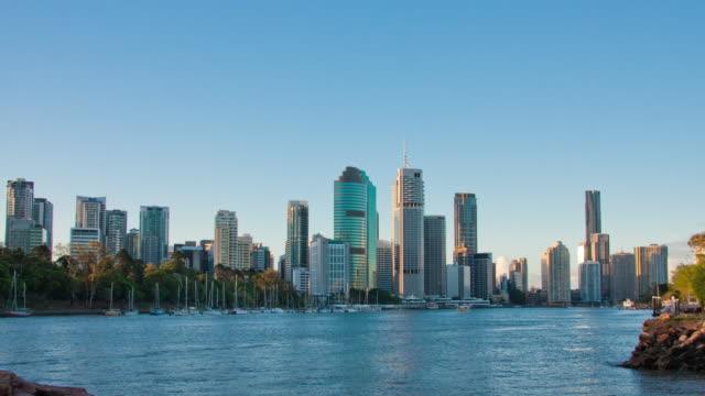 Brisbane cityscape daytime motion timelapse 4K video