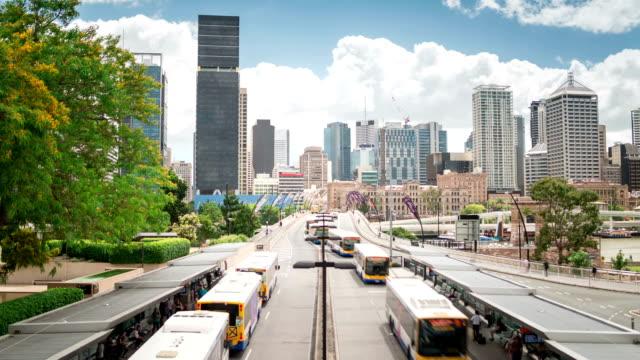 TIME LAPSE: Brisbane cityscape Victoria Bridge video